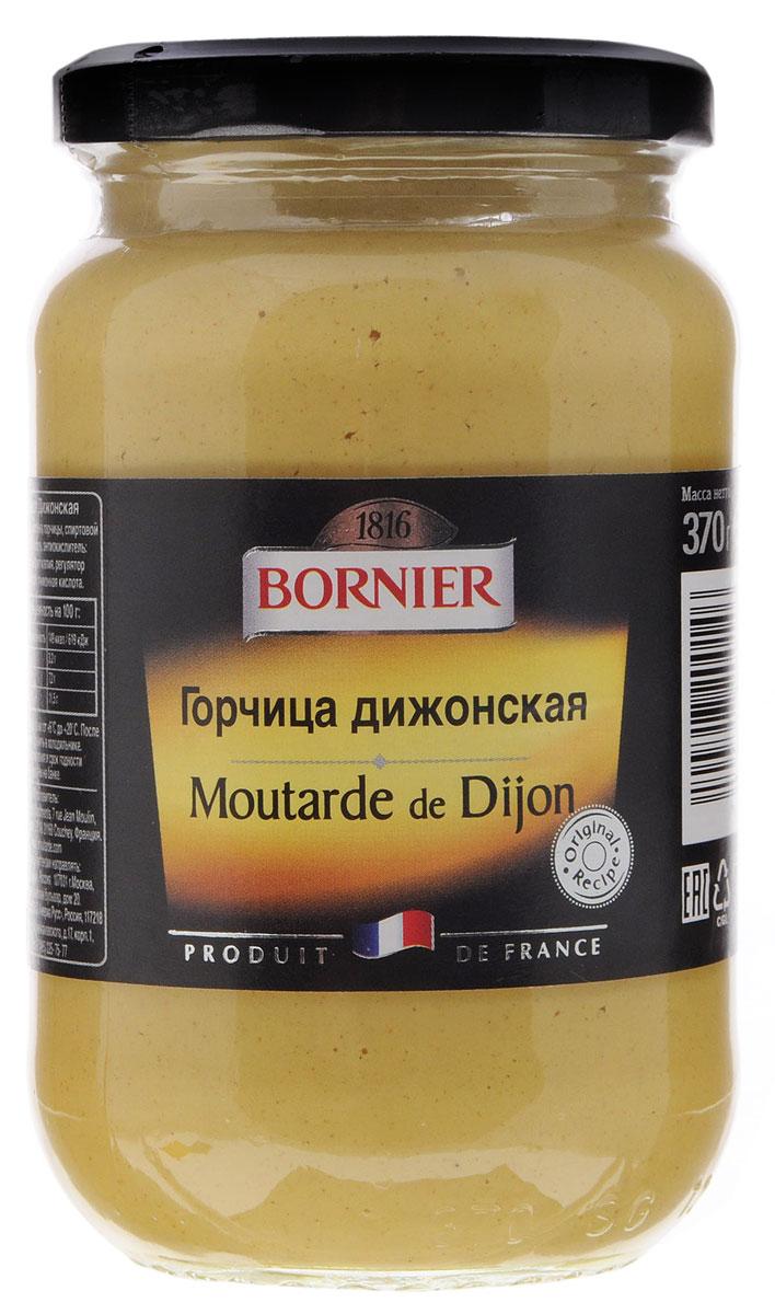 Kuhne Bornier Moutarde de Dijon горчица дижонская, 370 г0120710Дижонская горчица — самый продаваемый вид горчицы в мире. Это фирменная примета Бургундии. От других видов горчицы она отличается сладостью, желтым цветом и сливочной текстурой.