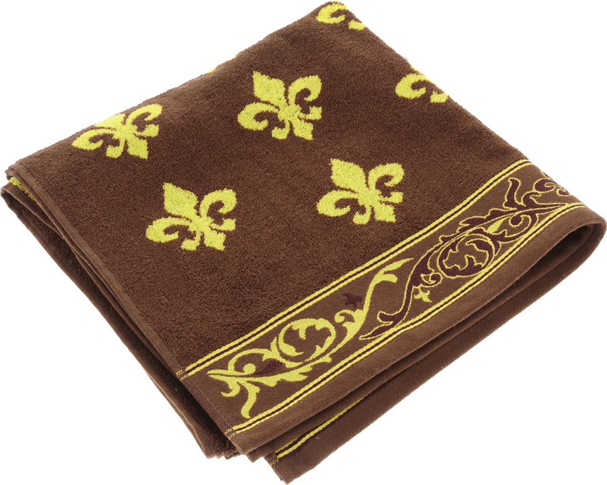 Полотенце Soavita Premium. Вензель, цвет: коричневый, желтый, 65 х 130 см soavita soavita полотенце lakeshia цвет розовый 65х130 см