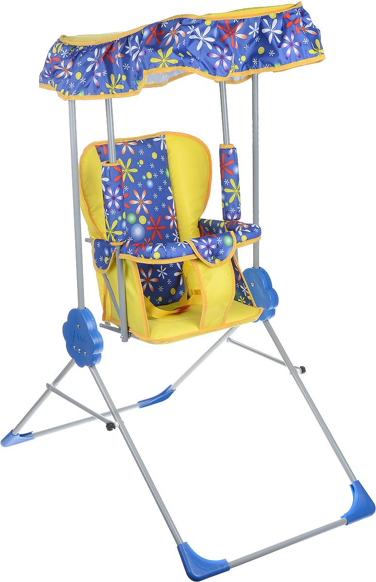 Фея Качели детские Малыш с тентом цвет синий желтый