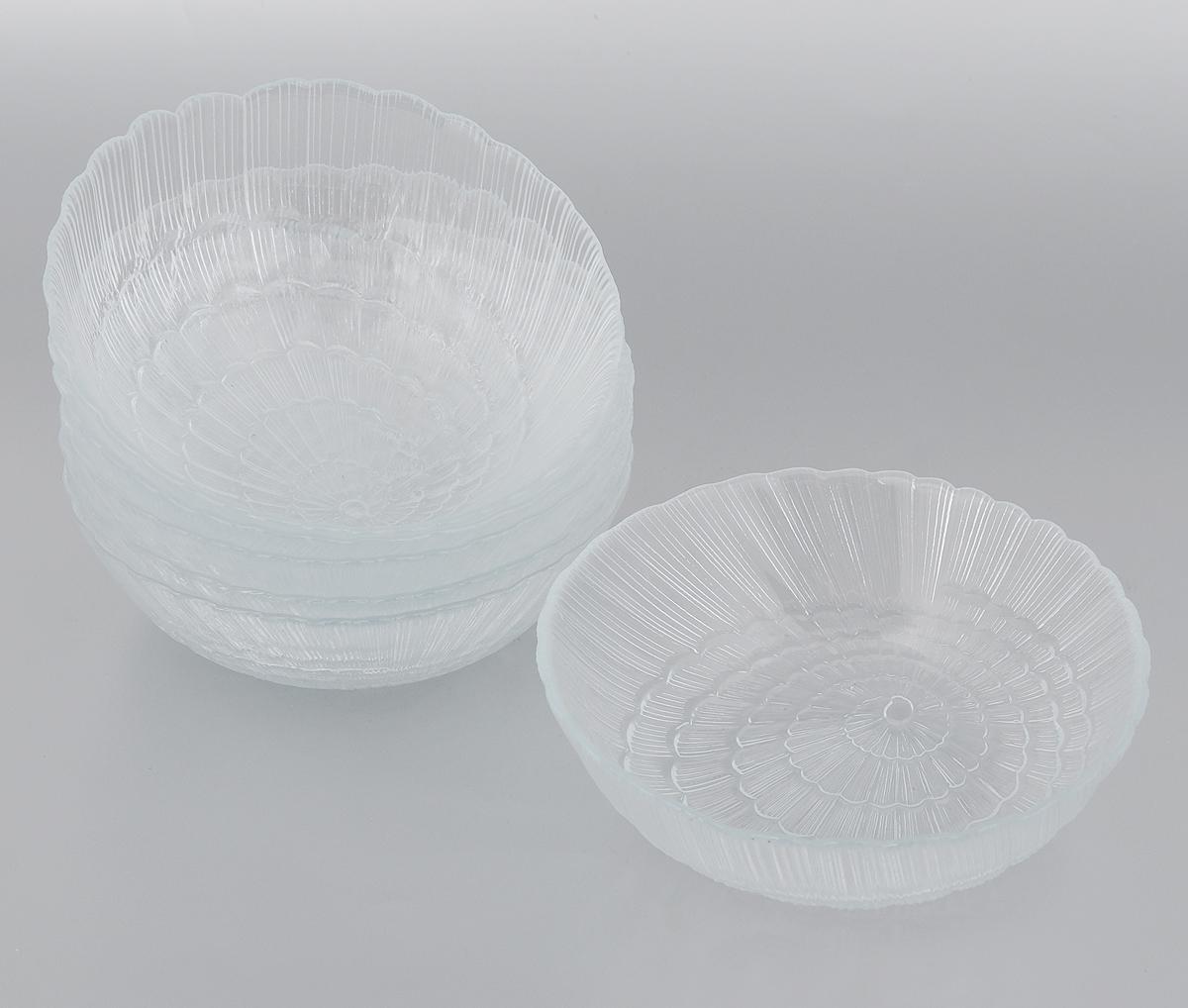Набор салатников Pasabahce Atlantis, диаметр 15,5 см, 6 шт115510Набор Pasabahce Atlantis, выполненный из высококачественного натрий-кальций-силикатного стекла, состоит из шести салатников. Внешние стенки изделий декорированы в виде ракушки. Такие салатники прекрасно подойдут для сервировки стола и станут достойным оформлением для ваших любимых блюд. Изящный дизайн, высокое качество и функциональность набора Pasabahce Atlantis позволят ему стать достойным дополнением к вашему кухонному инвентарю.Можно мыть в посудомоечной машине, использовать в микроволновой печи, холодильнике и морозильной камере.Диаметр салатника: 15,5 см.