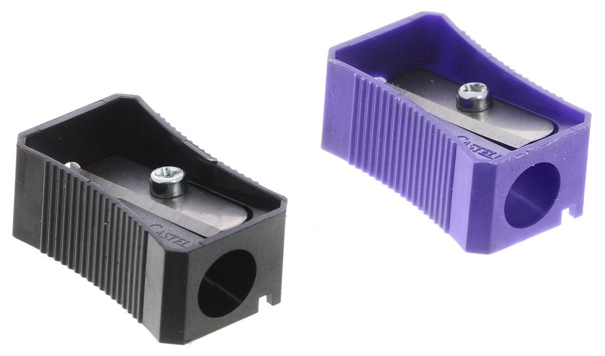 Faber-Castell Точилка цвет черный фиолетовый 2 шт72523WDТочилка Faber-Castell предназначена для затачивания классических простых и цветных карандашей.В наборе две точилки из пластика черного и фиолетового цветов с рифленой областью захвата. Острые лезвия обеспечивают высококачественную и точную заточку деревянных карандашей.