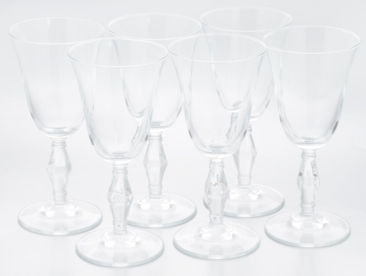 Набор бокалов Pasabahce Retro, 236 мл, 6 штVT-1520(SR)Набор Pasabahce Retro состоит из шести бокалов, выполненных из прочного натрий-кальций-силикатного стекла. Бокалы предназначены для подачи вина или других напитков. Они сочетают в себе элегантный дизайн и функциональность. Набор бокалов Pasabahce Retro прекрасно оформит праздничный стол и создаст приятную атмосферу за романтическим ужином. Такой набор также станет хорошим подарком к любому случаю. Можно мыть в посудомоечной машине.Диаметр бокала (по верхнему краю): 8,5 см. Высота бокала: 18,5 см.