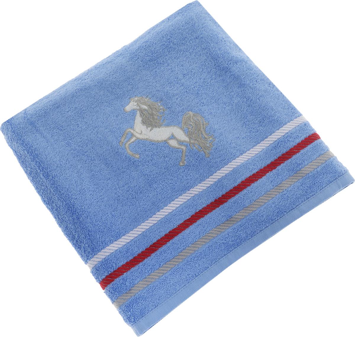 Полотенце Soavita Luxury. Лошадка, цвет: голубой, 70 х 130 смBH-UN0502( R)Полотенце Soavita Luxury. Лошадка выполнено из 100% хлопка. Изделие отлично впитывает влагу, быстро сохнет, сохраняет яркость цвета и не теряет форму даже после многократных стирок. Полотенце очень практично и неприхотливо в уходе. Оно создаст прекрасное настроение и украсит интерьер в ванной комнате.