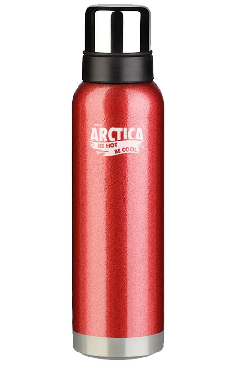 Термос Арктика, с чашей, цвет: красный, черный, стальной, 750 мл115510Термос Арктика изготовлен из высококачественной нержавеющей стали с матовой полировкой. Двойная колба из нержавеющей стали сохраняет напитки горячими и холодными до 26 часов. В комплекте дополнительная пластиковая чашка.Удобный, компактный и практичный термос пригодится в путешествии, походе и поездке. Не рекомендуется использовать в микроволновой печи и мыть в посудомоечной машине.Диаметр горлышка: 4,5 см. Диаметр основания термоса: 8 см. Высота термоса: 27 см.Высота чашек: 4,5 см, 6 см.Время сохранения температуры (холодной и горячей): 26 часов.