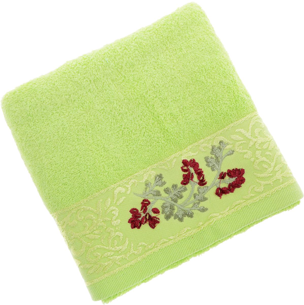 Полотенце Soavita Кизил, цвет: светло-зеленый, 50 х 90 см68/5/3Полотенце Soavita Кизил выполнено из 100% хлопка. Изделие отлично впитывает влагу, быстро сохнет, сохраняет яркость цвета и не теряет форму даже после многократных стирок. Полотенце очень практично и неприхотливо в уходе. Оно создаст прекрасное настроение и украсит интерьер в ванной комнате.