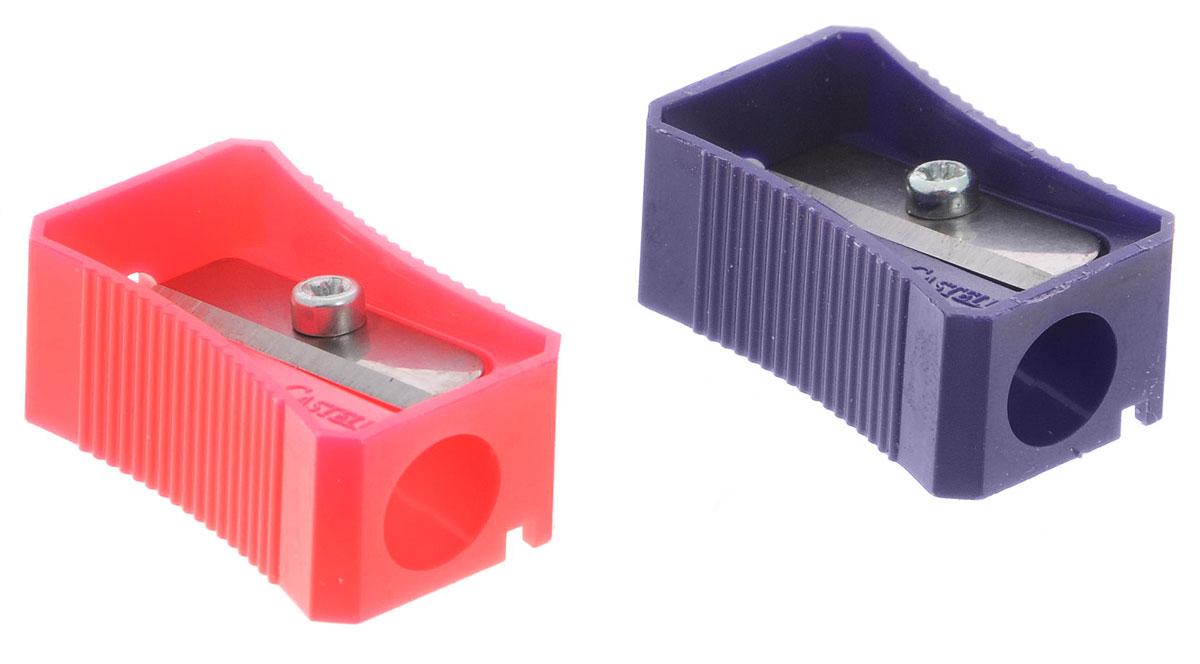 Faber-Castell Точилка цвет розовый фиолетовый 2 шт72523WDТочилка Faber-Castell предназначена для затачивания классических простых и цветных карандашей.В наборе две точилки из прочного пластика розового и фиолетового цветов с рифленой областью захвата. Острые лезвия обеспечивают высококачественную и точную заточку деревянных карандашей.