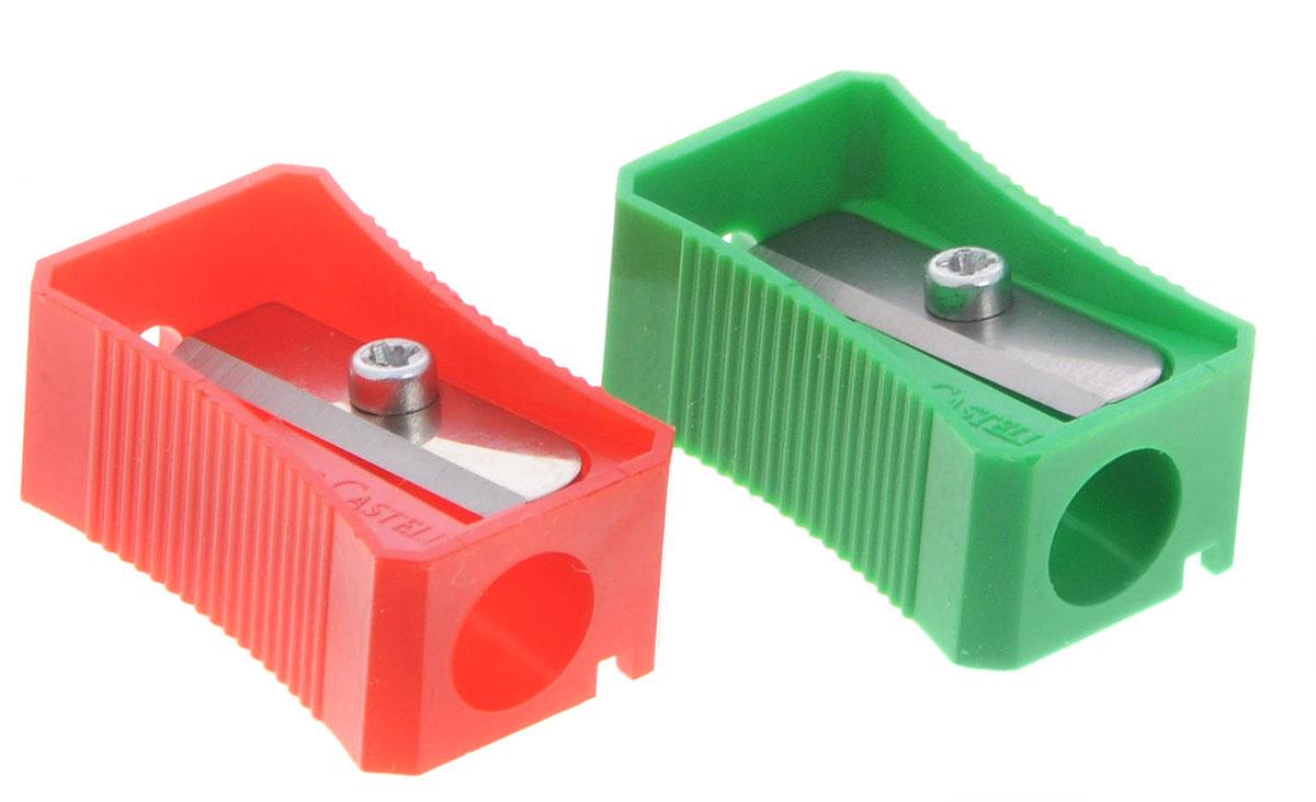 Faber-Castell Точилка цвет зеленый красный 2 шт730396Точилка Faber-Castell предназначена для затачивания классических простых и цветных карандашей.В наборе две точилки из пластика зеленого и красного цветов с рифленой областью захвата. Острые лезвия обеспечивают высококачественную и точную заточку деревянных карандашей.
