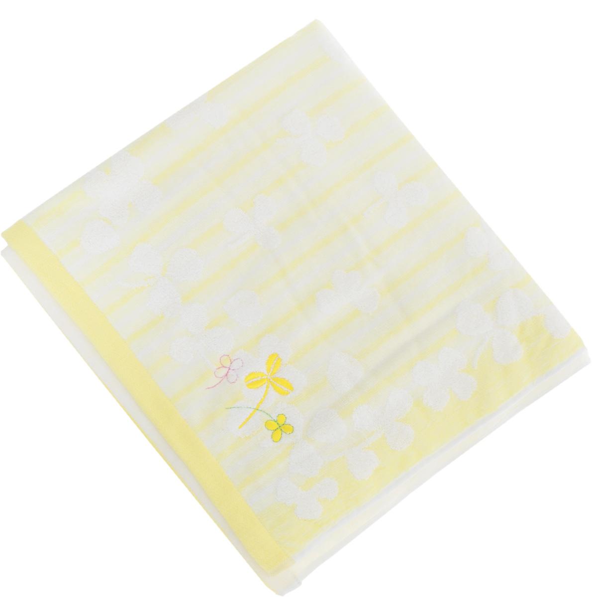 Полотенце Soavita Desy, цвет: желтый, 48 х 90 см68/5/3Полотенце Soavita Desy выполнено из 100% хлопка. Изделие отлично впитывает влагу, быстро сохнет, сохраняет яркость цвета и не теряет форму даже после многократных стирок. Полотенце очень практично и неприхотливо в уходе. Оно создаст прекрасное настроение и украсит интерьер в ванной комнате.