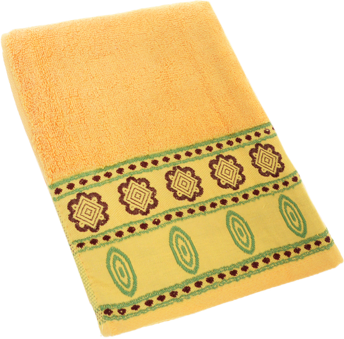 Полотенце Soavita Bruno, цвет: желтый, 50 х 90 см64041Полотенце Soavita Bruno выполнено из 100% хлопка. Изделие отлично впитывает влагу, быстро сохнет, сохраняет яркость цвета и не теряет форму даже после многократных стирок. Полотенце очень практично и неприхотливо в уходе. Оно создаст прекрасное настроение и украсит интерьер в ванной комнате.