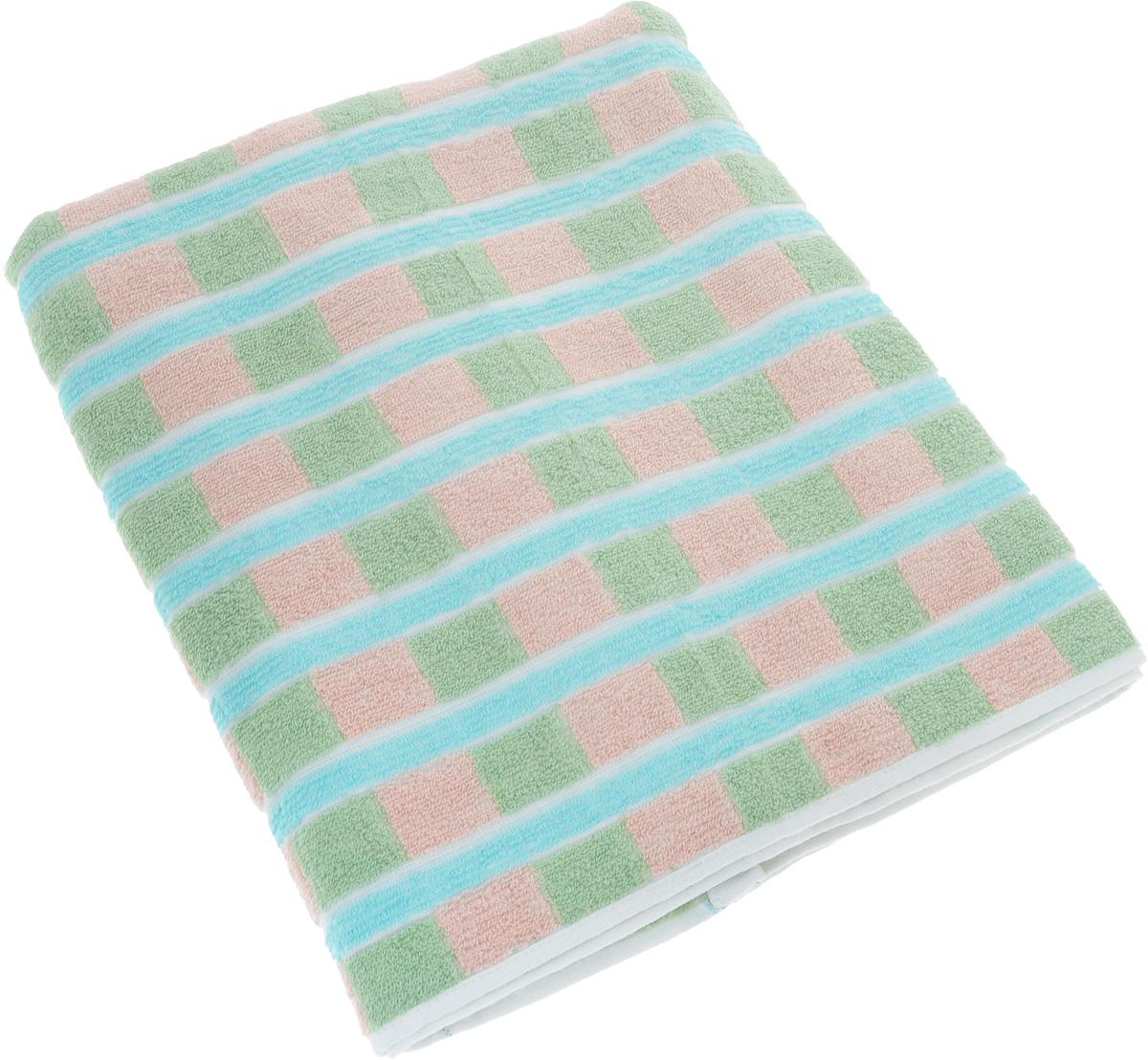 Полотенце Soavita Premium. Linda, цвет: зеленый, розовый, голубой, 70 х 140 см531-105Полотенце Soavita Premium. Linda выполнено из 100% хлопка. Изделие отлично впитывает влагу, быстро сохнет, сохраняет яркость цвета и не теряет форму даже после многократных стирок. Полотенце очень практично и неприхотливо в уходе. Оно создаст прекрасное настроение и украсит интерьер в ванной комнате.