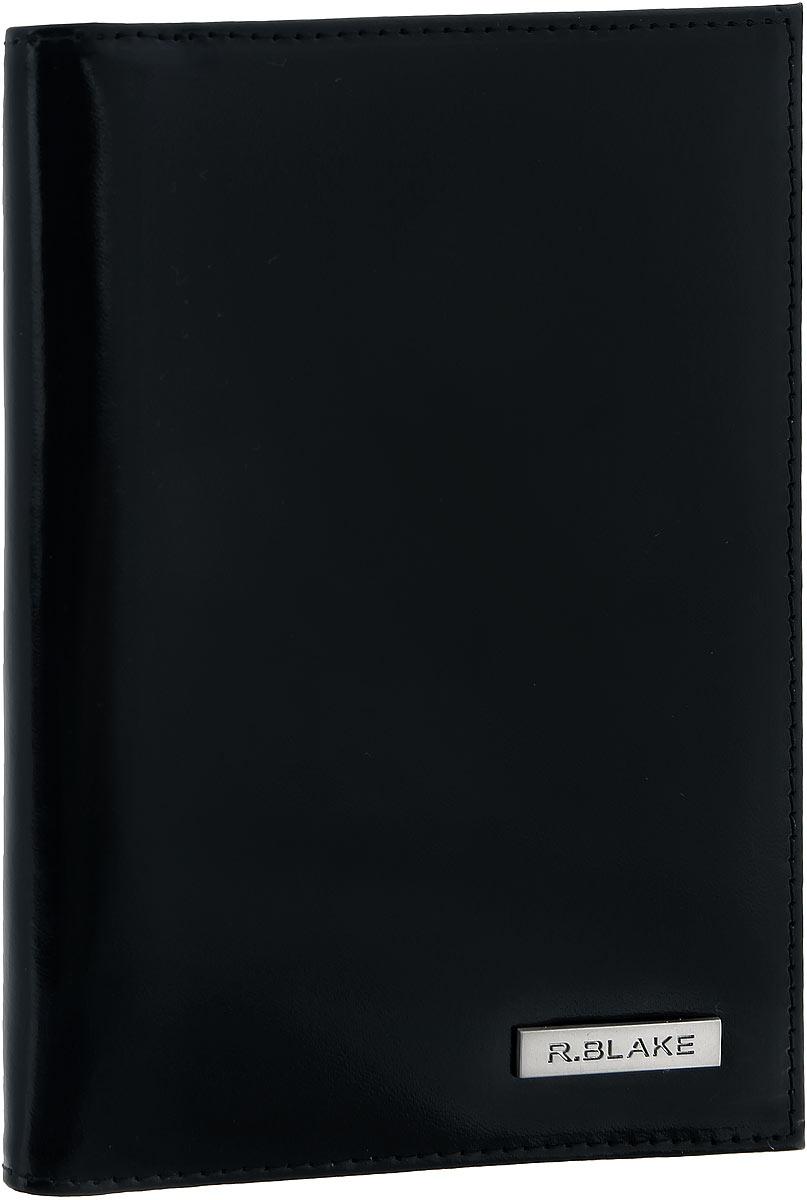 Обложка для паспорта мужская R.Blake Cover Gloss, цвет: черный. 5GCVR00-000000-A0601O-K101BM8434-58AEСтильная обложка для паспорта R.Blake Cover Gloss изготовлена из натуральной гладкой кожи. Лицевая сторона изделия оформлена небольшой металлической пластиной с гравировкой в виде названия бренда. Внутри на одной из боковых сторон предусмотрены четыре кармашка для кредитных карт или визиток.Изделие поставляется в фирменной упаковке.Обложка для паспорта поможет сохранить внешний вид ваших документов и защитить их от повреждений, а также станет стильным аксессуаром.