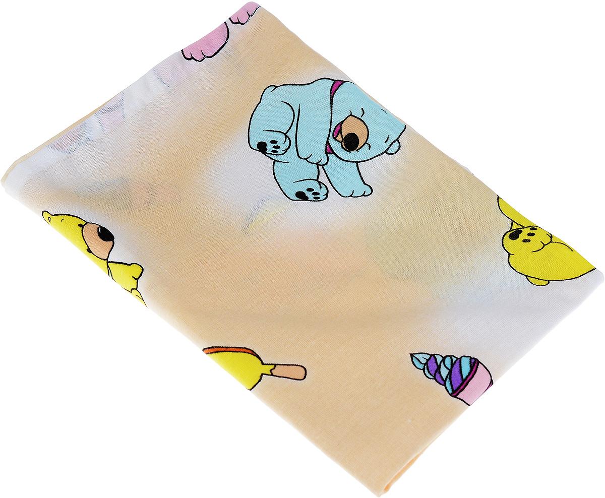 Фея Наволочка детская Мишки и мороженое цвет бежевый 40 см х 60 см