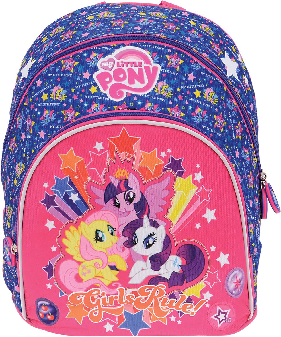 Proff Рюкзак дошкольный Girls Rule!86826Дошкольный рюкзак Proff Girls Rule! - это красивый и удобный рюкзак, который подойдет всем юным принцессам, кто хочет разнообразить свои будни. Внешние поверхности и подкладка рюкзака выполнены из полиэстера, уплотнители - из поролона, элементы отделки - из пластика, металла, ПВХ.Рюкзак имеет одно основное отделение на застежке-молнии с двумя бегунками. Бегунки дополнены удобными держателями с изображением пони. На лицевой стороне расположен накладной карман на молнии.Изделие оснащено удобной текстильной ручкой для переноски. Широкие лямки рюкзака можно регулировать по длине. Светоотражающие элементы обеспечивают безопасность в местах движения автомобилей и помогут пересечь проезжую часть в сумерки или темное время суток.Многофункциональный детский рюкзак станет незаменимым спутником для вашего ребенка.