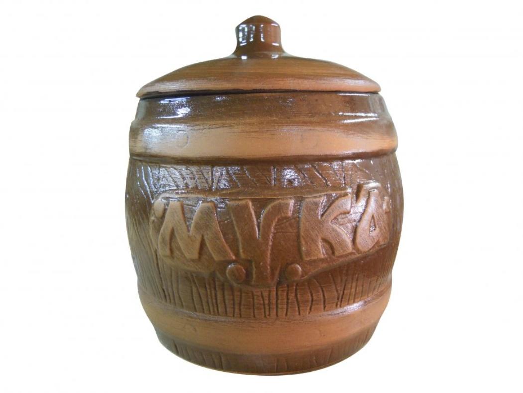 Бочонок Борисовская керамика Мука, 1200 млVT-1520(SR)Удобный бочонок для компактного размещения на вашей кухне. Очень оригинально смотрится в любом интерьере. Оригинальный эффект старины!