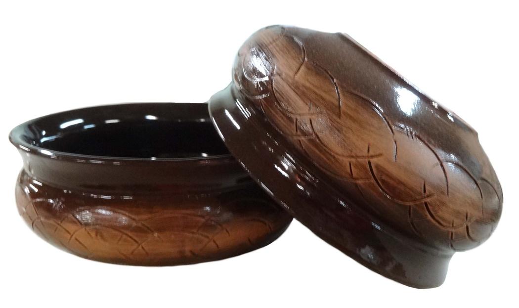 Тарелка глубокая Борисовская керамика Скифская, цвет: коричневый, 800 мл. СТР14457936 тажин борисовская керамика радуга цвет оранжевый коричневый 2 5 л