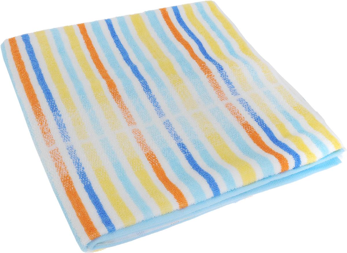Полотенце Soavita Premium. Lily, цвет: белый, желтый, голубой, 70 х 140 см531-105Полотенце Soavita Premium. Lily выполнено из 100% хлопка. Изделие отлично впитывает влагу, быстро сохнет, сохраняет яркость цвета и не теряет форму даже после многократных стирок. Полотенце очень практично и неприхотливо в уходе. Оно создаст прекрасное настроение и украсит интерьер в ванной комнате.