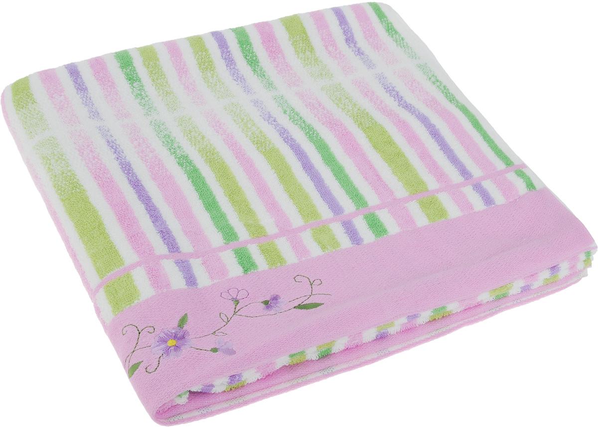 Полотенце Soavita Premium. Lily, цвет: розовый, белый, зеленый, 70 х 140 см1004900000360Полотенце Soavita Premium. Lily выполнено из 100% хлопка. Изделие отлично впитывает влагу, быстро сохнет, сохраняет яркость цвета и не теряет форму даже после многократных стирок. Полотенце очень практично и неприхотливо в уходе. Оно создаст прекрасное настроение и украсит интерьер в ванной комнате.