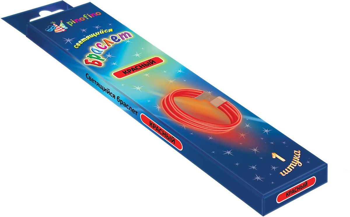 Pinofino Изделие для праздников и карнавалов Светящийся браслет PF0105 цвет красный