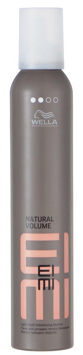 Wella Пена для укладки легкой фиксации EIMI Natural Volume, 300 млMP59.4DПена для укладки со степенью фиксации 2 поможет придать волосам идеальную форму и натуральный объем.