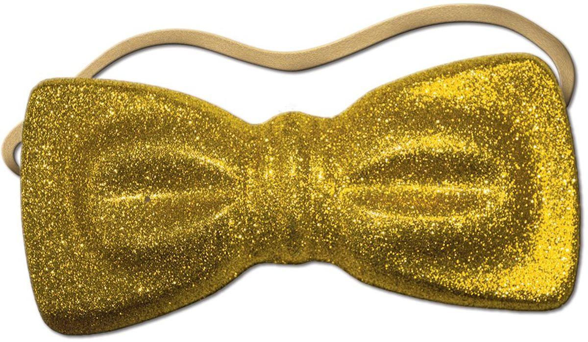 Бабочка карнавальная с обсыпкой блестками, на резинке. Размер 23 х 11 см. Цвета в ассортименте: золотой, красный, серебряный, синий, зеленый, розовый. Материал ПВХ.