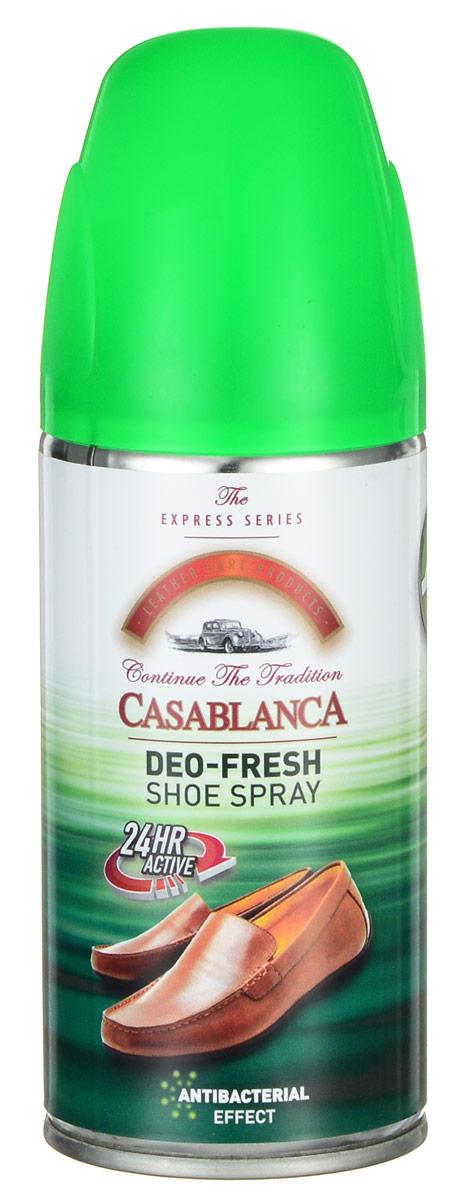Дезодорант для обуви Casablanca 160млMW-3101Освежает обувь, обладает антибактериальным эффектом. Устраняет запахи оставляя длительный аромат.