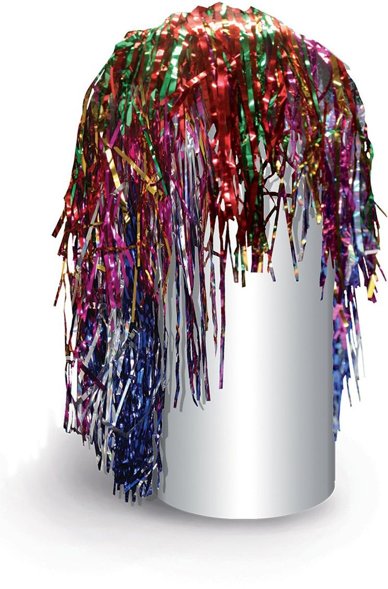 Partymania Маскарадный парик из дождика Веселый праздник цвет разноцветный -  Парики