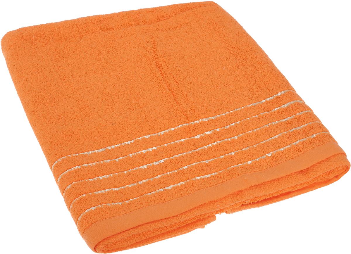 Полотенце Soavita Olivia, цвет: оранжевый, 70 х 140 см1092019Полотенце Soavita Olivia выполнено из 100% хлопка. Изделие отлично впитывает влагу, быстро сохнет, сохраняет яркость цвета и не теряет форму даже после многократных стирок. Полотенце очень практично и неприхотливо в уходе. Оно создаст прекрасное настроение и украсит интерьер в ванной комнате.