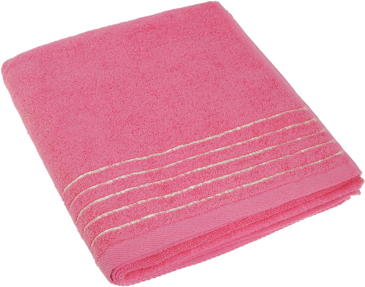Полотенце Soavita Olivia, цвет: розовый, 70 х 140 см19201Полотенце Soavita Olivia выполнено из 100% хлопка. Изделие отлично впитывает влагу, быстро сохнет, сохраняет яркость цвета и не теряет форму даже после многократных стирок. Полотенце очень практично и неприхотливо в уходе. Оно создаст прекрасное настроение и украсит интерьер в ванной комнате.
