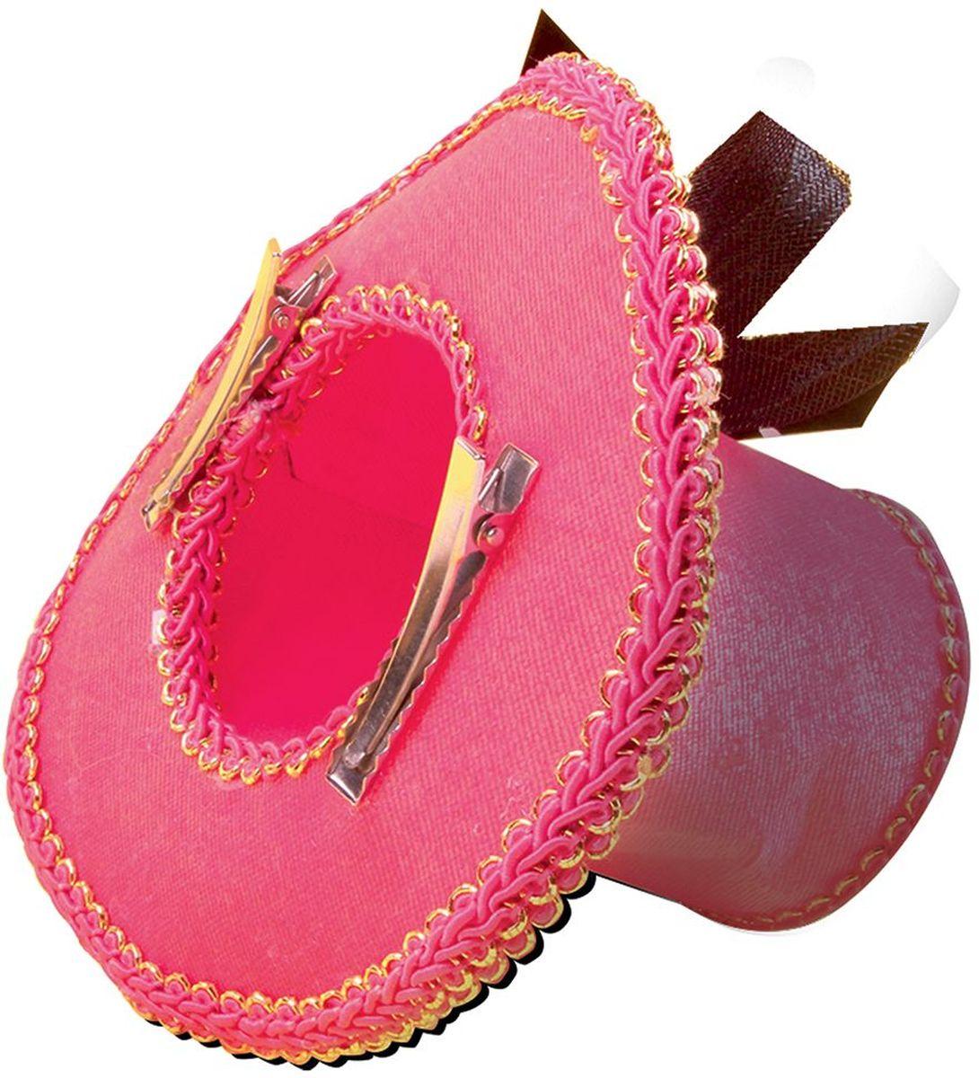 Partymania Шляпка-таблетка карнавальная Винтаж цвет розовый -  Колпаки и шляпы