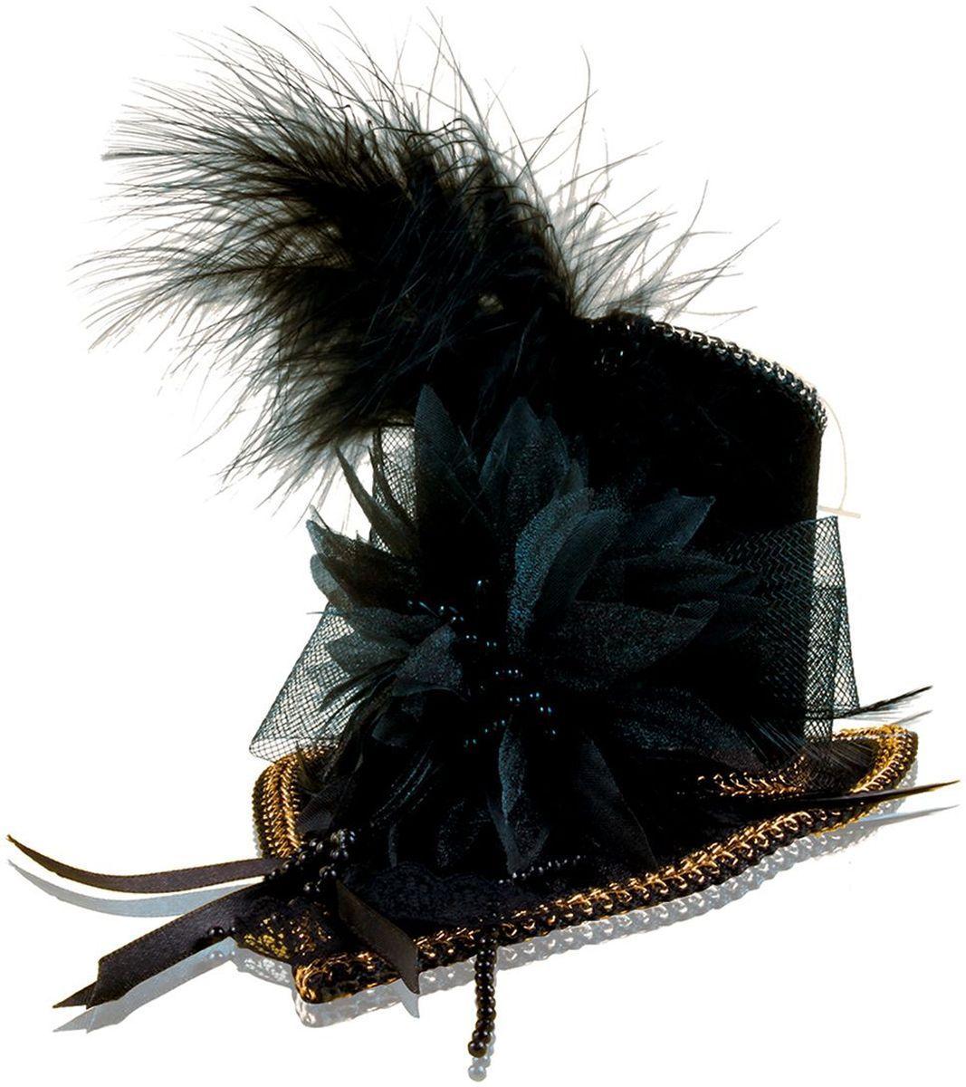 Partymania Шляпка-таблетка карнавальная Винтаж цвет черный - Колпаки и шляпы