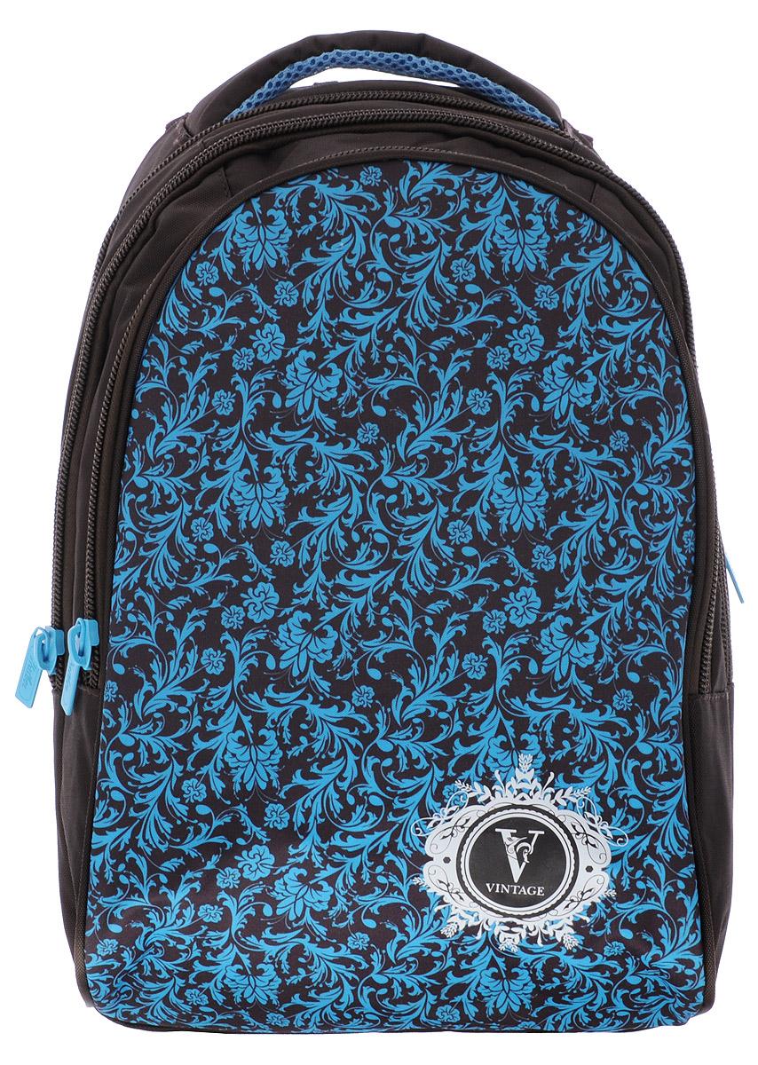 Hatber Рюкзак Vintage72523WDРюкзак Hatber Vintage - это современный многофункциональный молодёжный рюкзак, который выполнен из прочного износостойкого материала высокого качества. Рюкзак с усиленным дном имеет два основных отделения на молнии. Внутри отделения, расположенного ближе к спинке рюкзака, находится навесной карман на молнии, а также открытый карман на резинке. Большой наружный карман на молнии имеет внутри 5 открытых накладных кармашков (органайзер). На спинке рюкзака за мягкой вставкой располагается небольшой карман на молнии. Эргономичная вентилируемая спинка с мягкими вставками из спонжа обеспечит комфорт при носке, а широкие лямки с мягкой подкладкой регулируются по длине и надежно фиксируют рюкзак, правильно распределяя нагрузку и предотвращая перенапряжение мышц.Прочная ручка с мягкой подкладкой обеспечивает возможность переноски рюкзака в одной руке. Многофункциональный рюкзак станет вашим незаменимым спутником, куда бы вы не отправились.