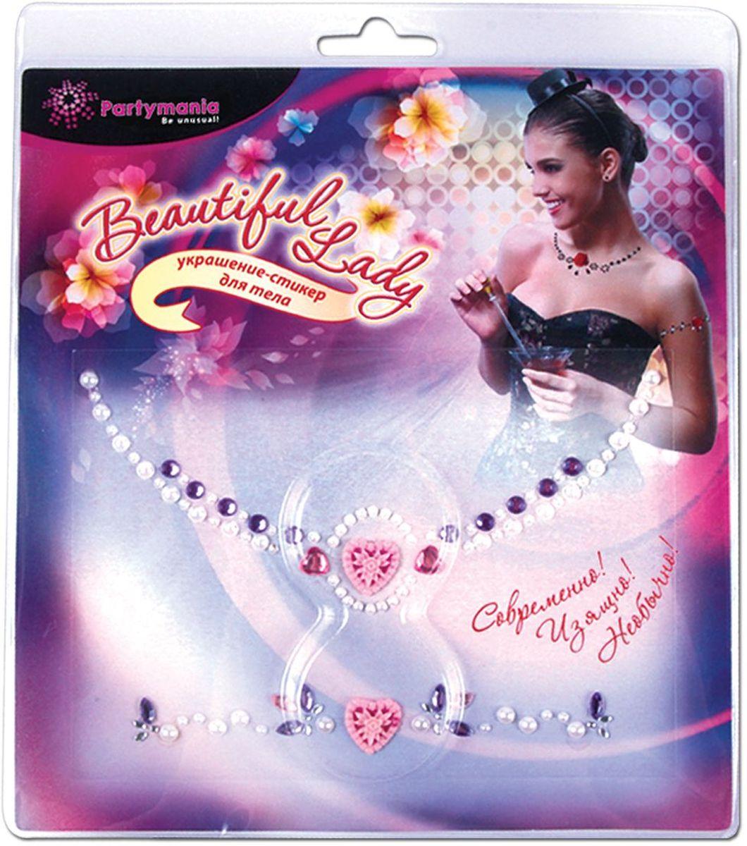 Partymania Украшение-стикер для тела 2 шт Beautiful Lady Сердечко