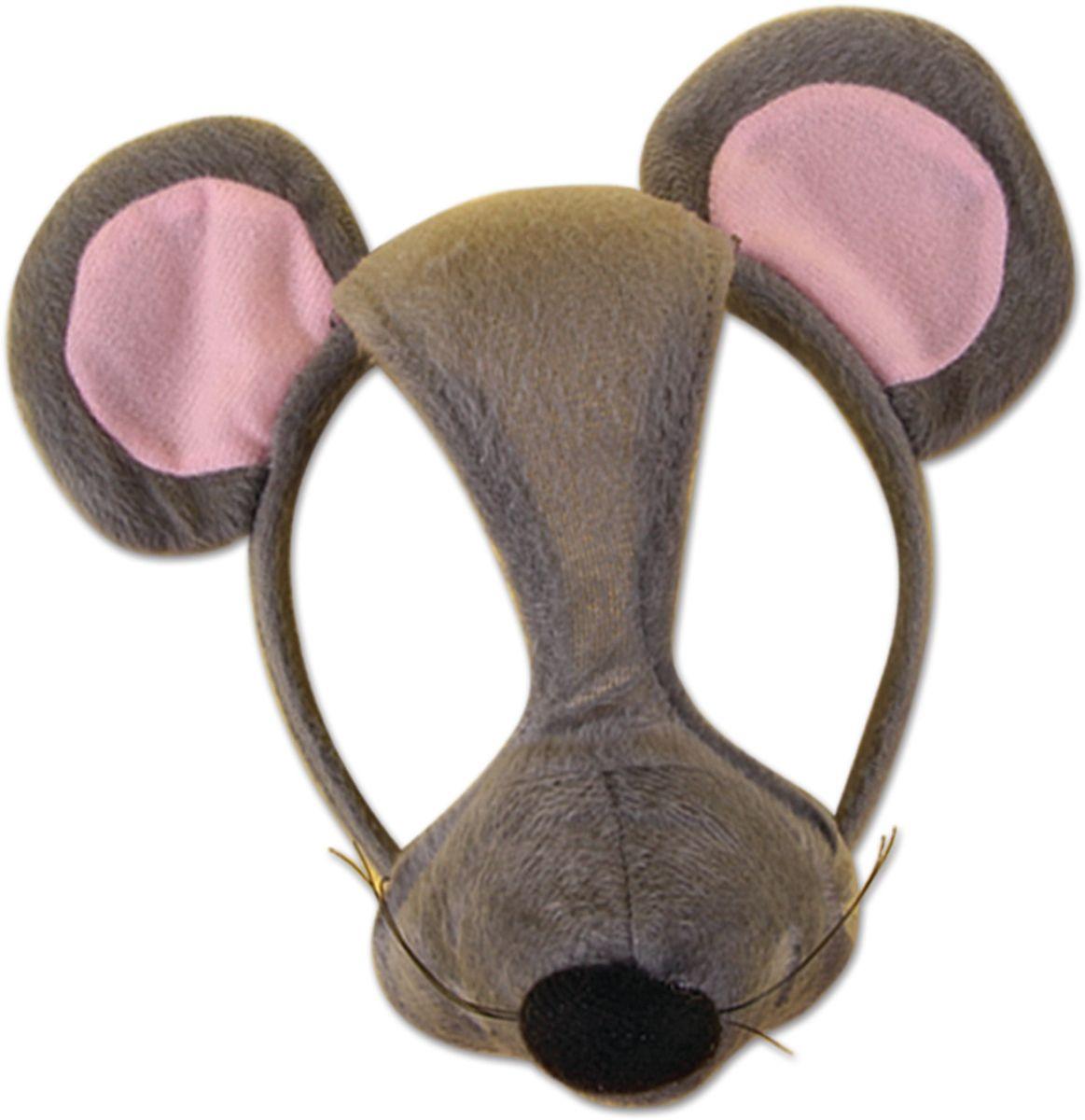 Partymania Маска карнавальная детская Мышь со звуком