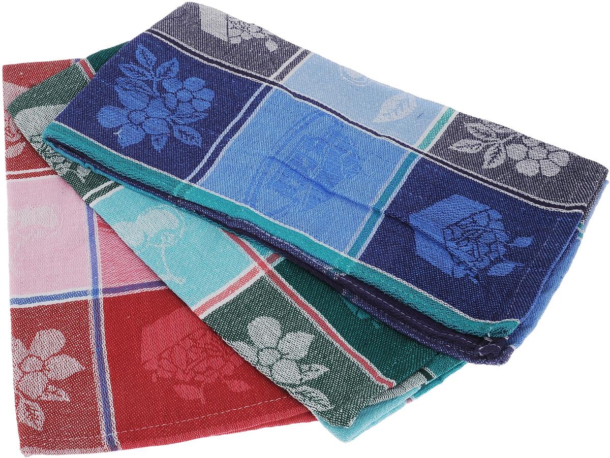 Набор кухонных полотенец Soavita Orlando, цвет: синий, красный, зеленый, 39 х 70 см, 3 шт65802Набор Soavita Orlando состоит из трех кухонных полотенец, выполненных из 100% хлопка. Они отлично впитывают влагу, быстро сохнут, сохраняют яркость цвета и не теряют форму даже после многократных стирок. Изделия предназначены для использования на кухне и в столовой.Такие полотенца станут отличным вариантом для практичной и современной хозяйки.