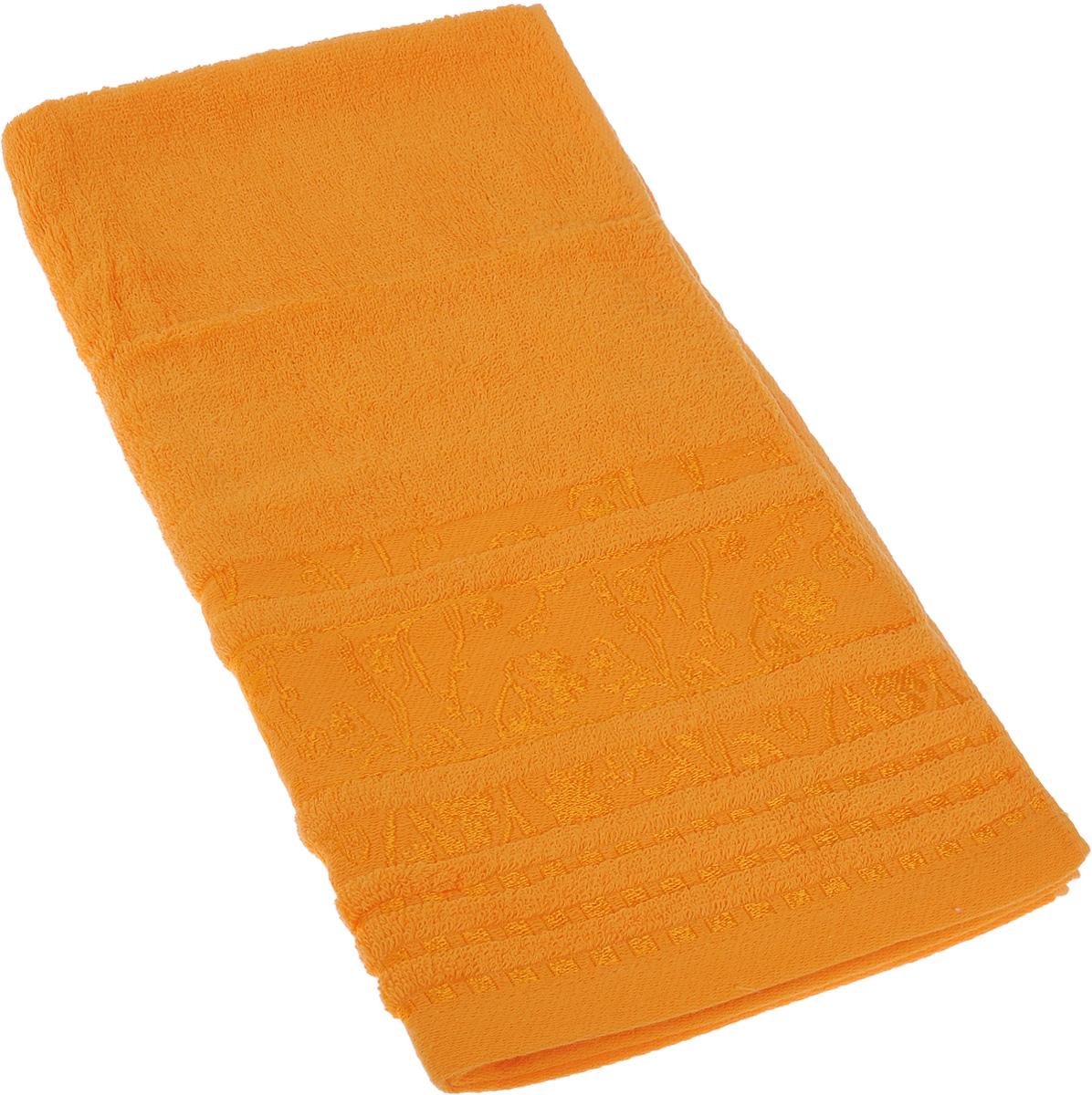 Полотенце Soavita Sandra, цвет: оранжевый, 50 х 90 см68/5/1Полотенце Soavita Sandra выполнено из 100% хлопка. Изделие отлично впитывает влагу, быстро сохнет, сохраняет яркость цвета и не теряет форму даже после многократных стирок. Полотенце очень практично и неприхотливо в уходе. Оно создаст прекрасное настроение и украсит интерьер в ванной комнате.