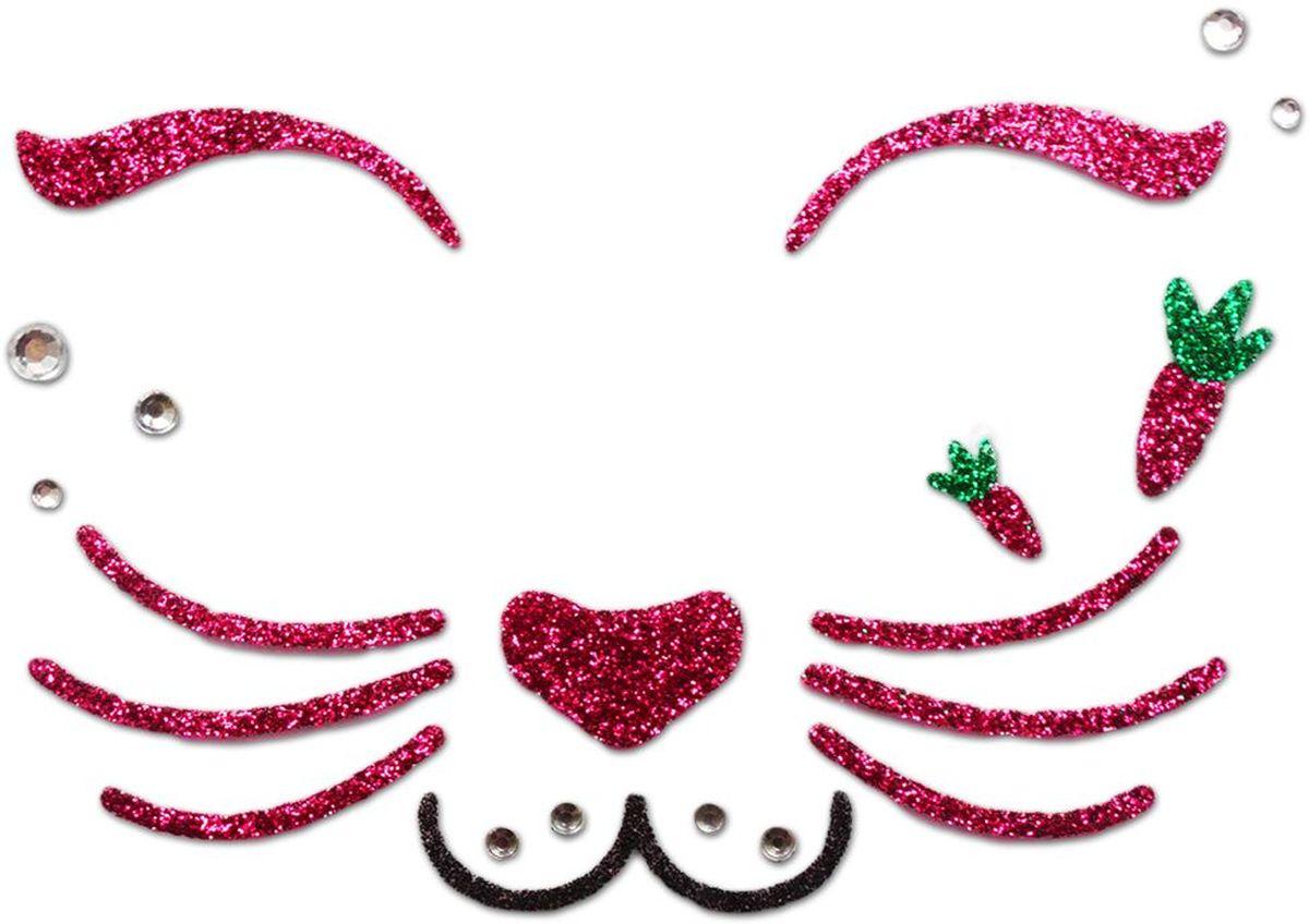 Partymania Украшение-стикер для лица Карнавал Кролик -  Украшение волос, лица и тела