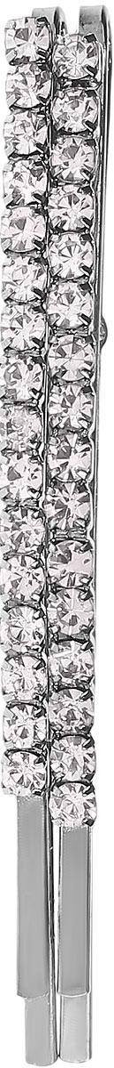 Заколка-невидимка Mitya Veselkov, цвет: белый. ZAKN4-CRYSCF5512F4Стильная заколка-невидимка Mitya Veselkov выполнена из металла и инкрустирована стразами.Яркий изысканный дизайн заколки-невидимки делают ее удобным и практичным, а также стильным и нарядным аксессуаром, призванным выгодно подчеркнуть непревзойденную женственность и индивидуальность своей обладательницы.