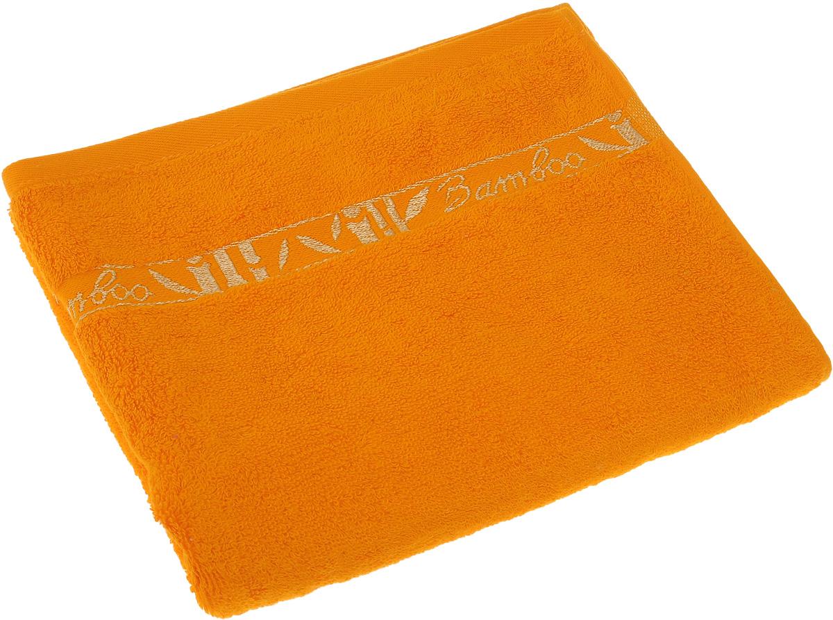 Полотенце Soavita Andrea, цвет: оранжевый, 50 х 80 см16056Полотенце Soavita Andrea выполнено из 100% бамбукового волокна. Изделие отлично впитывает влагу, быстро сохнет, сохраняет яркость цвета и не теряет форму даже после многократных стирок. Полотенце очень практично и неприхотливо в уходе. Оно создаст прекрасное настроение и украсит интерьер в ванной комнате.