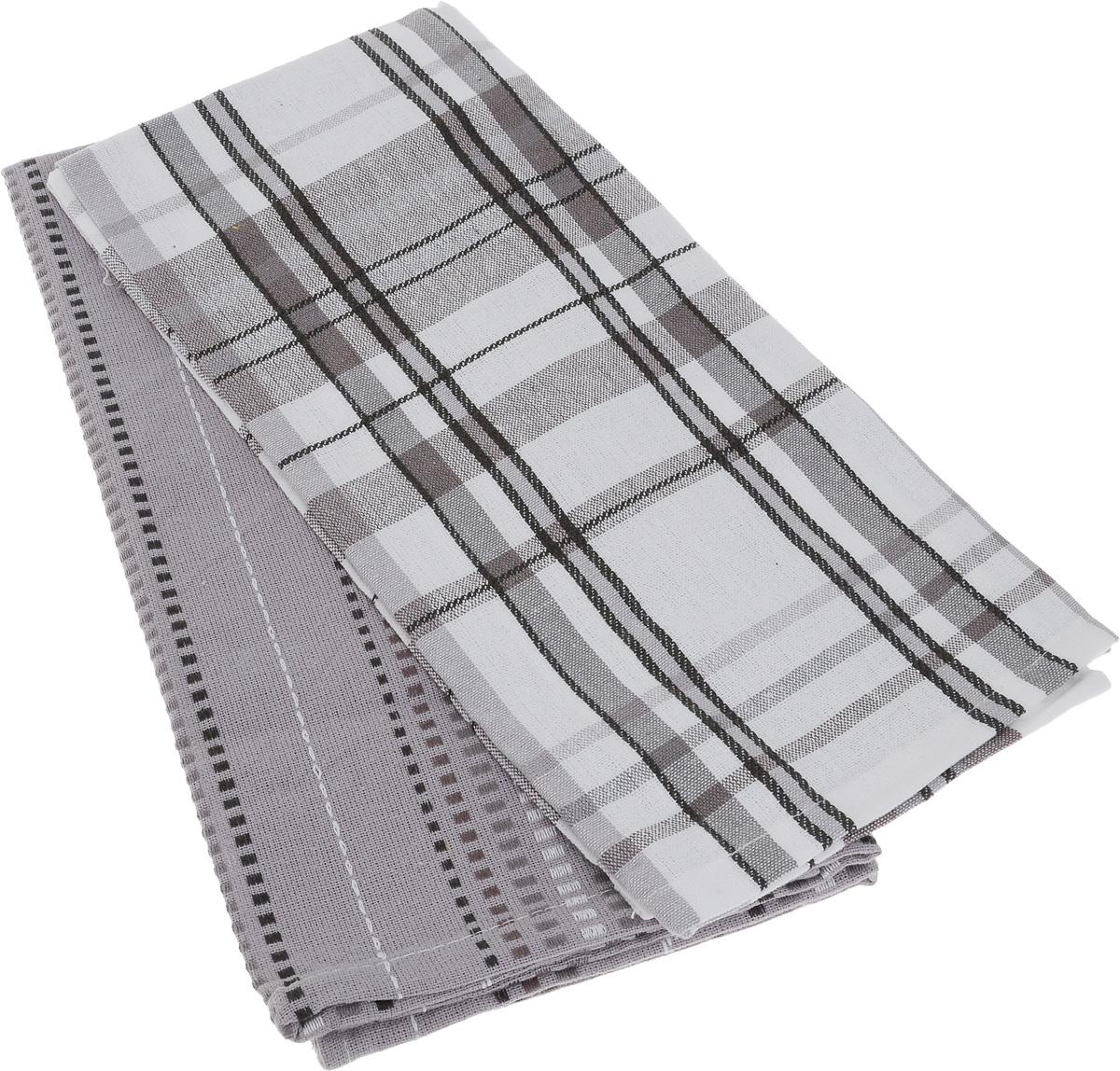 Набор кухонных полотенец Soavita Strip, цвет: черный, белый, серый, 48 х 68 см, 2 шт1004900000360Набор Soavita Strip состоит из двух полотенец, выполненных из 100% хлопка. Изделия предназначены для использования на кухне и в столовой.Набор полотенец Soavita Strip - отличное приобретение для каждой хозяйки.Комплектация: 2 шт.