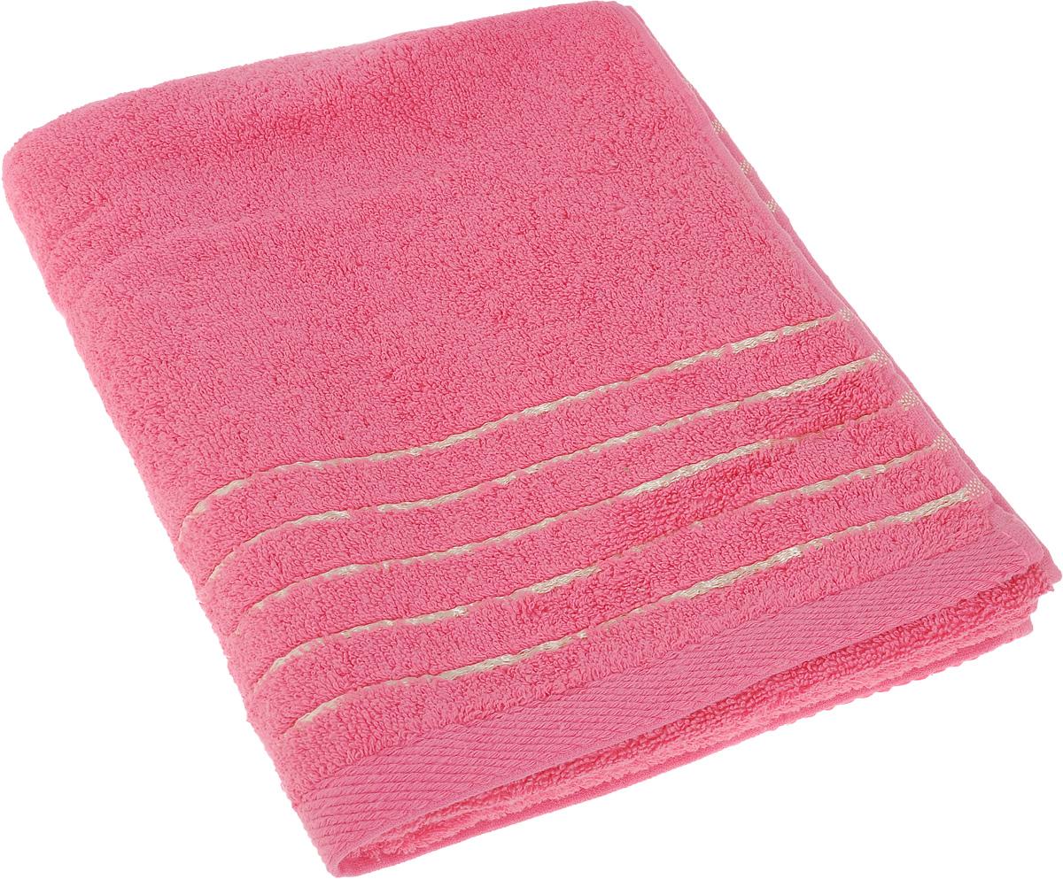 Полотенце Soavita Olivia, цвет: розовый, 50 х 90 см1004900000360Полотенце Soavita Olivia выполнено из 100% хлопка. Изделие отлично впитывает влагу, быстро сохнет, сохраняет яркость цвета и не теряет форму даже после многократных стирок. Полотенце очень практично и неприхотливо в уходе. Оно создаст прекрасное настроение и украсит интерьер в ванной комнате.