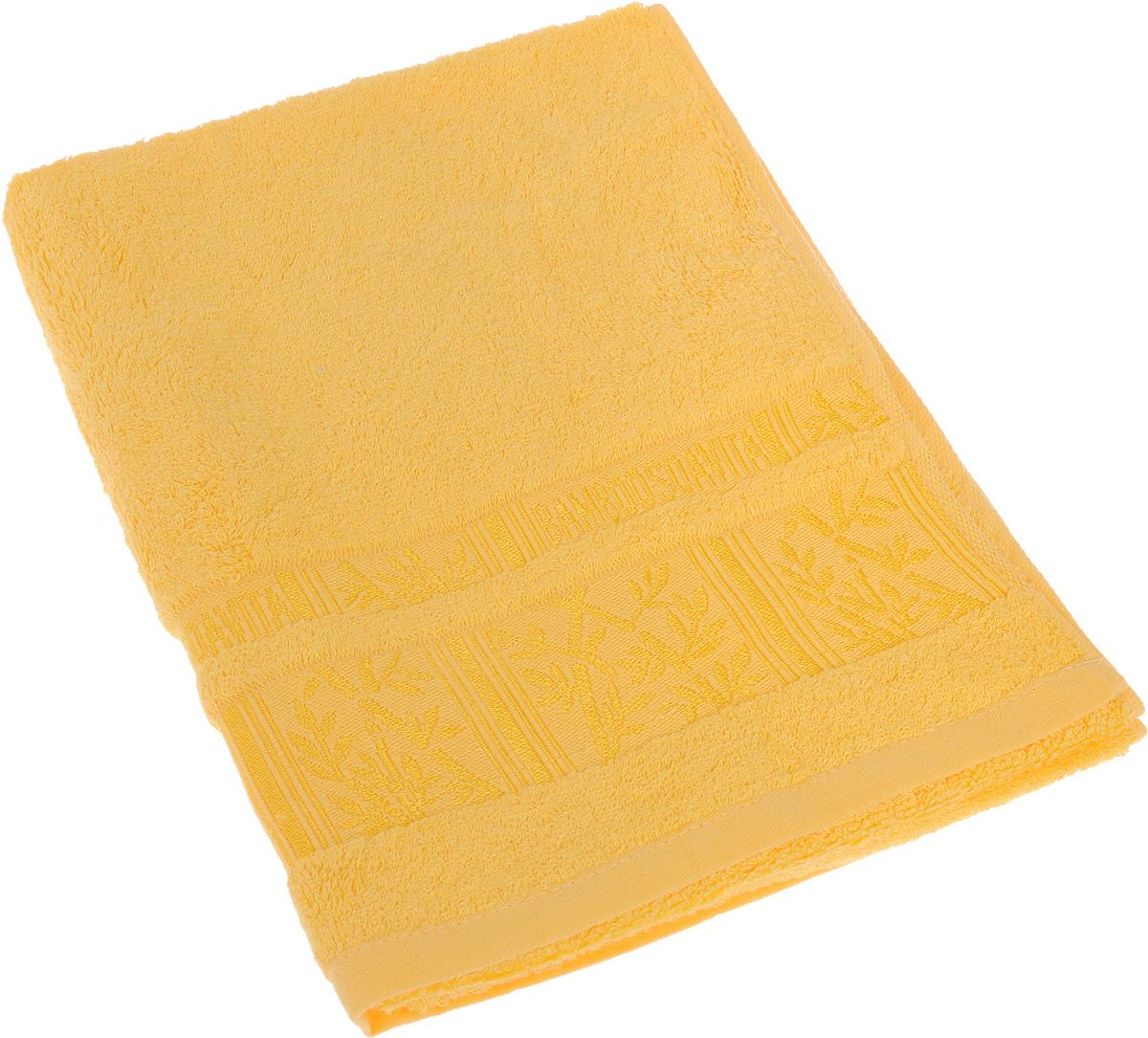 Полотенце Soavita Sofia, цвет: желтый, 50 х 90 смRC-100BWCПолотенце Soavita Sofia выполнено из 100% бамбукового волокна. Изделие отлично впитывает влагу, быстро сохнет, сохраняет яркость цвета и не теряет форму даже после многократных стирок. Полотенце очень практично и неприхотливо в уходе. Оно создаст прекрасное настроение и украсит интерьер в ванной комнате.