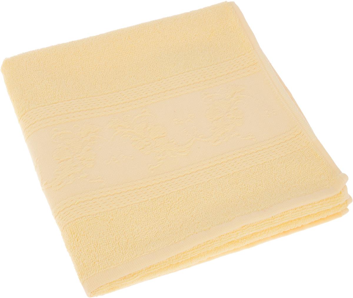 Полотенце Soavita Luxury. Цветы, цвет: желтый, 50 х 70 см68/5/1Полотенце Soavita Luxury. Цветы выполнено из 40% хлопка и 60% бамбука. Изделие отлично впитывает влагу, быстро сохнет, сохраняет яркость цвета и не теряет форму даже после многократных стирок. Полотенце очень практично и неприхотливо в уходе. Оно создаст прекрасное настроение и украсит интерьер в ванной комнате.