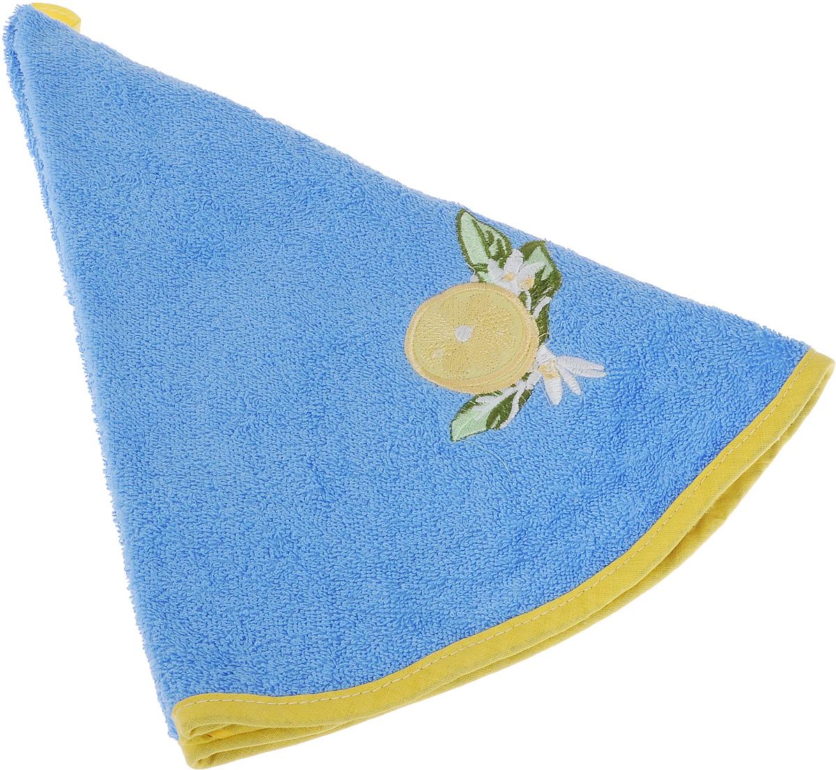 Полотенце Soavita, цвет: голубой, диаметр 70 смVT-1520(SR)Круглое полотенце Soavita выполнено из 100% хлопка. Изделие отлично впитывает влагу, быстро сохнет, сохраняет яркость цвета и не теряет форму даже после многократных стирок. Полотенце очень практично и неприхотливо в уходе. Оно создаст прекрасное настроение и украсит интерьер в ванной комнате.