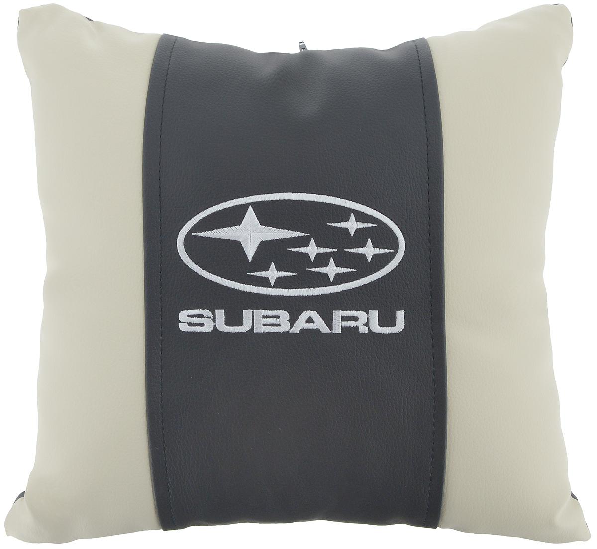 Подушка на сиденье Autoparts Subaru, 30 х 30 смT100Подушка на сиденье Autoparts Subaru создана для тех, кто весь свой день вынужден проводить за рулем. Чехол выполнен из высококачественной дышащей экокожи. Наполнителем служит холлофайбер. На задней части подушки имеется змейка.Особенности подушки:- Хорошо проветривается.- Предупреждает потение.- Поддерживает комфортную температуру.- Обминается по форме тела.- Улучшает кровообращение.- Исключает затечные явления.- Предупреждает развитие заболеваний, связанных с сидячим образом жизни. Подушка также будет полезна и дома - при работе за компьютером, школьникам - при выполнении домашних работ, да и в любимом кресле перед телевизором.