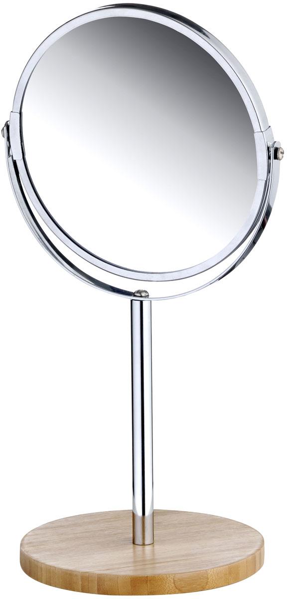 Зеркало настольное Axentia Bonja, на ножке, с увеличением54 009312Настольное косметическое зеркало Axentia Bonja идеально подходит для нанесения макияжа и совершения различных косметических процедур. Изделие изготовлено из натурального экологически чистого бамбука, устойчивого к повышенной влажности с элементами нержавеющей стали.Зеркало с увеличением поможет разглядеть даже малейшие нюансы и устранить все недостатки кожи. Яркий и стильный дизайн зеркала на ножке делает его отличным подарком родным и близким, оно будет прекрасно смотреться в любом интерьере.