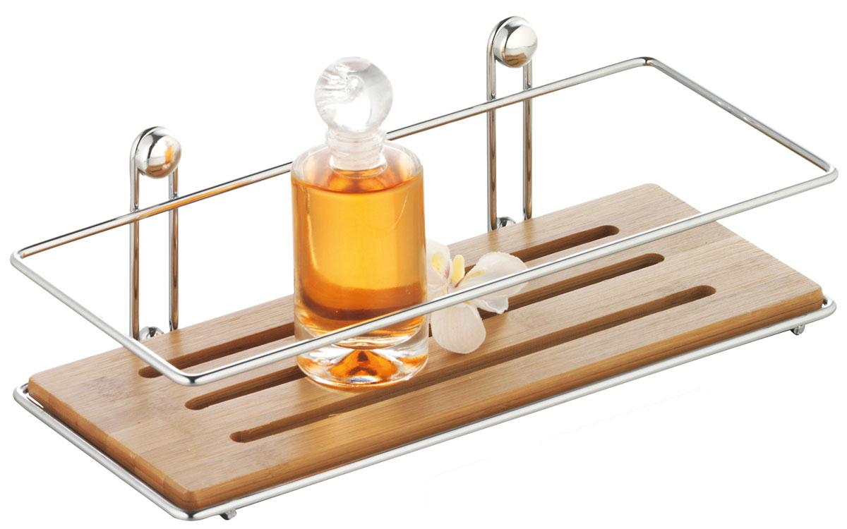 Полка для ванной Axentia Bonja, одноярусная, 26,5 х 8,5 х 11,3 см74-0120Полка для ванной Axentia Bonja изготовлена из натурального экологически чистого бамбука, устойчивого к повышенной влажности. Изделие оснащено каркасом из хромированной стали. Данное изделие изящно дополнит интерьер вашей ванной комнаты.Размер полки: 26,5 х 8,5 х 11,3 см