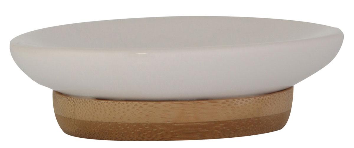 Мыльница Axentia Bonja Premium, 14,5 х 9,7 х 2,3 см40448001Мыльница Axentia Bonja Premium - это сочетание экологически чистого бамбука, устойчивого к высокой влажности, и натуральной белой керамики. Отлично сочетается с другими аксессуарами из коллекции Bonja Premium.Размер мыльницы: 14,5 х 9,7 х 2,3 см.