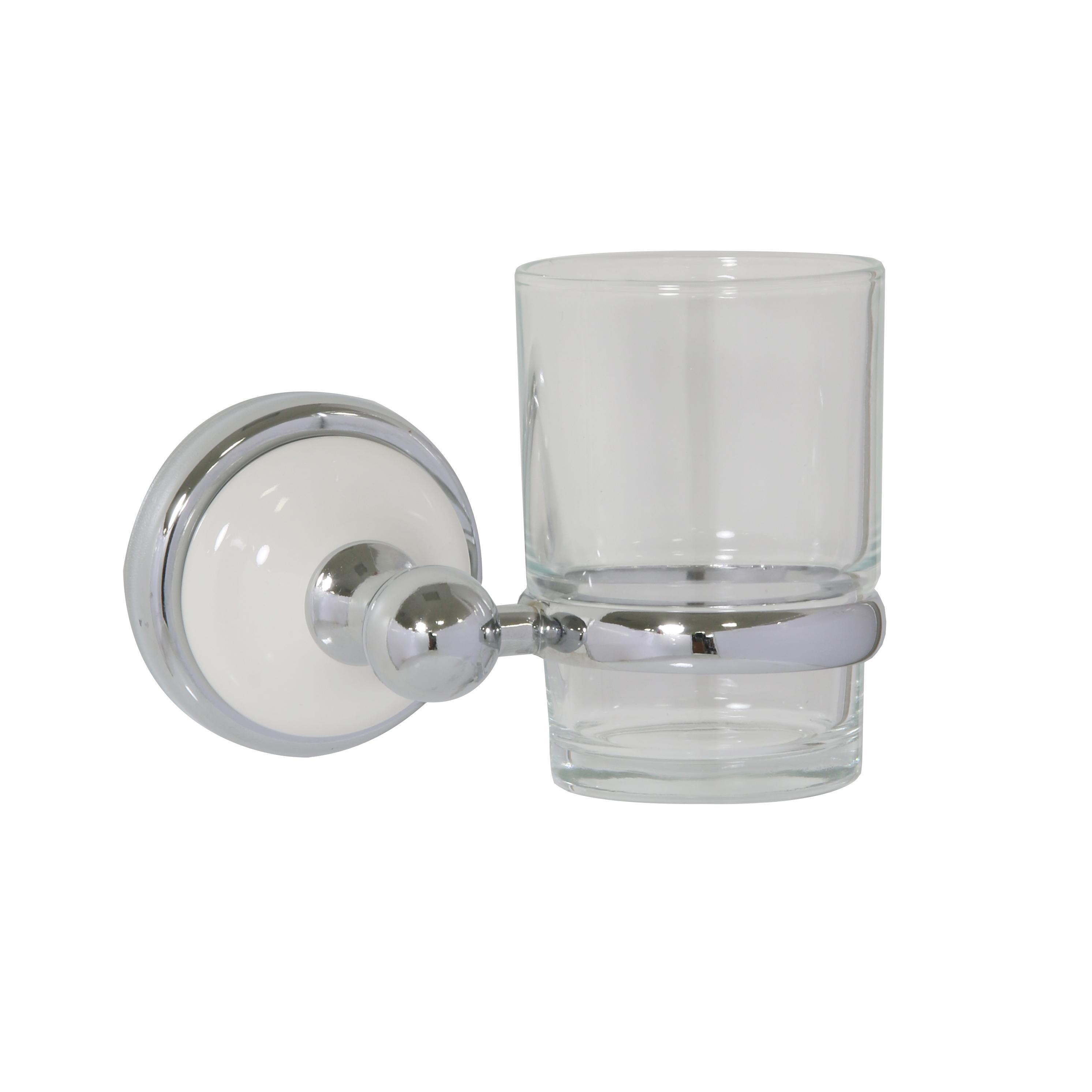 Стакан для зубных щеток Axentia Lyon Premium531-105Стакан для зубных щеток Axentia Lyon Premium выполнен из нержавеющей стали покрытой цинком с колпачком из белой керамики. Крепится на шурупах (в комплекте). Изделие превосходно дополнит интерьер ванной комнаты.