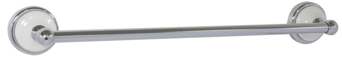 Полотенцедержатель Axentia Lyon Premium, настенный68/5/1Навесной настенный полотенцедержатель Axentia Lyon Premium выполнен из нержавеющей стали, покрытой цинком с колпачком из белой керамики. Крепится к стене с помощью шурупов (входят в комплект).