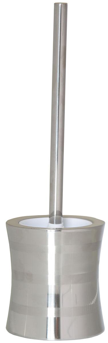 Ершик для унитаза Axentia Santo, с подставкой, высота 38 см68/5/1Ершик для унитаза Axentia Santo имеет ручку из нержавеющей стали и белую щетку, с жестким густым ворсом. Подставка изготовлена из нержавеющей стали, такой материал долговечный, не боится влажности и механического воздействия. Обработан двумя типами полировки: глянцевая и матовая. Высококачественные материалы позволят наслаждаться покупкой долгие годы. Изделие приятно дополнит интерьер вашей туалетной комнаты.